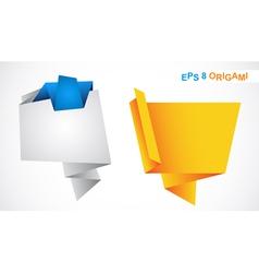 origami bubbles vector image