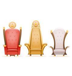 royal throne king ruler fairytale armchair cartoon vector image