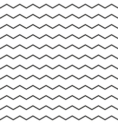 Zig zag chevron black and white tile pattern vector