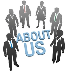 About Us company website people icon vector image vector image
