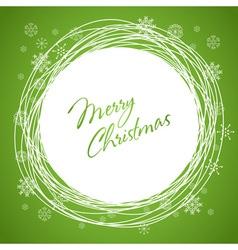 Christmas swirl card green vector image