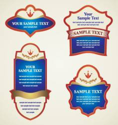 label banner vector image vector image