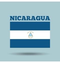 nicaragua country flag vector image