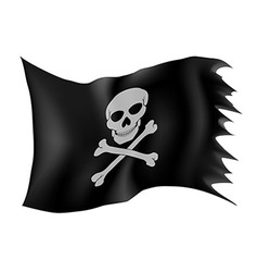 pirate flag 01 vector image