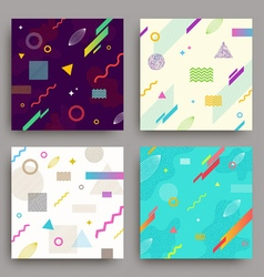 Set of abstract avangarde retro background vector image vector image