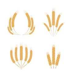 Wreaths of wheat ears vector image vector image