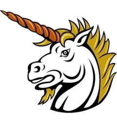 angry cartoon unicorn vector image vector image