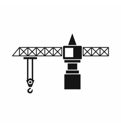 Crane icon simple style vector image vector image