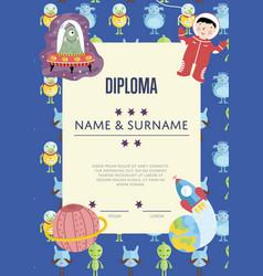 diploma cartoon template vector image