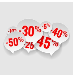 Discount price tags vector image