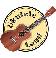 ukulele Logo vector image vector image