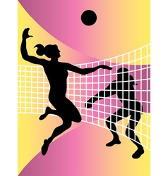 volleyball women vector image vector image