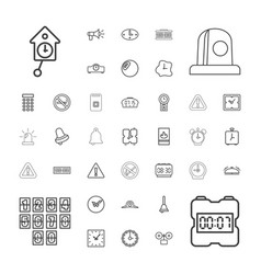 37 alarm icons vector