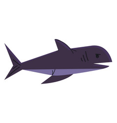 a big deep-water sea fish known as shark in blue vector image