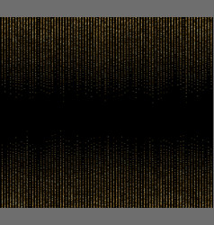 Abstract golden particles on a black background vector