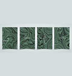 Abstract green marble pattern design brochure vector