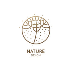 abstract tropic plant minimal logo vector image