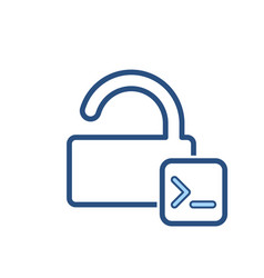 admin console input lock office open icon vector image
