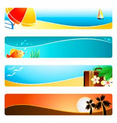 beach time banner backgrounds vector image