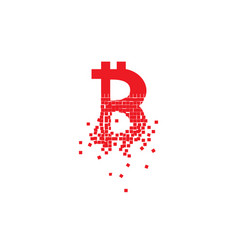 Bitcoin collapse and crack down concept vector