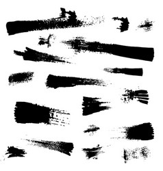 black paint ink vector image