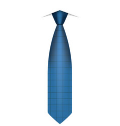 Blue tie icon realistic style vector