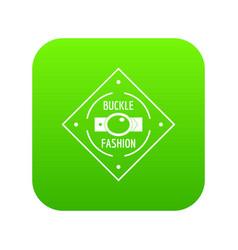 Buckle chrome icon green vector