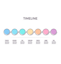 business infographics timeline with 7 steps vector image