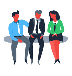 businessman and businesswoman teamwork and vector image