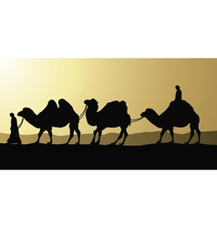 Camels and bedouins vector