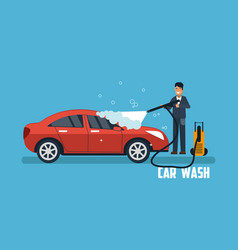 Car wash banner vector