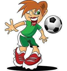 Cartoon football player vector