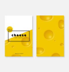 cheese poster menu design vector image