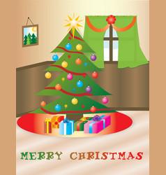 Christmas themed house vector