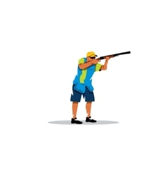 Clay shooting sign vector image