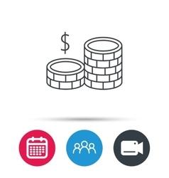 Coins icon Dollar cash money sign vector