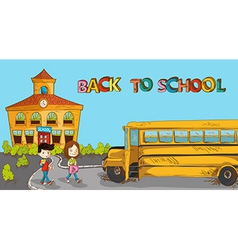 Colorful back to school education cartoon vector image