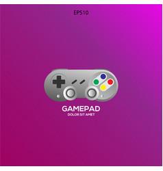 console joystick logo wit purple background vector image