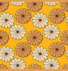 cookies pattern vector image