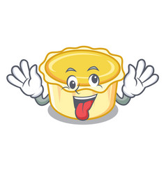 Crazy egg tart mascot cartoon vector