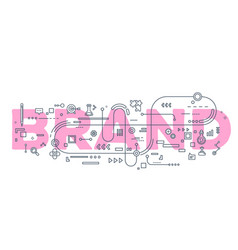 Creative of brand word lettering vector