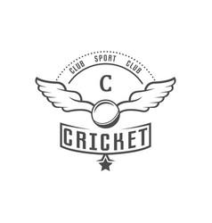 cricket club logotype vector image