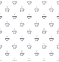 Cup of coffee pattern cartoon style vector