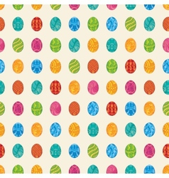 Decorative easter eggs pattern vector