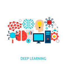 deep learning concept vector image