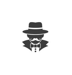 Detective human head logo vector