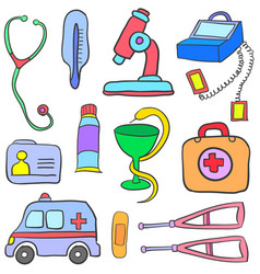 Doodle of object medical art vector
