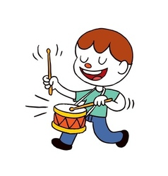 Drummer boy vector