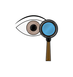 Eye magnifying glass analysis business element vector