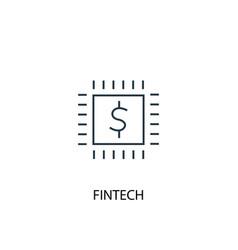 fintech concept line icon simple element vector image